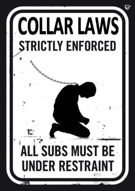Collar Law Sign sub slaves