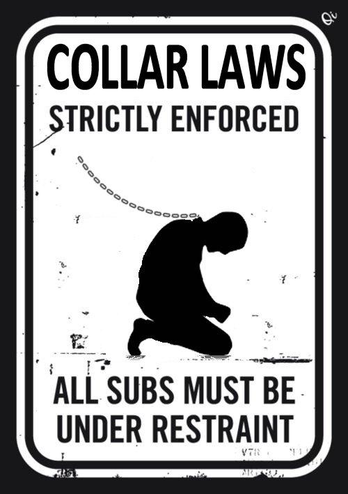 Collar Law Sign sub slaves